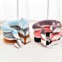 Fox Plush U-Shape Travel Pillow