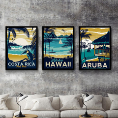 Tropical Beach Vintage Paintings