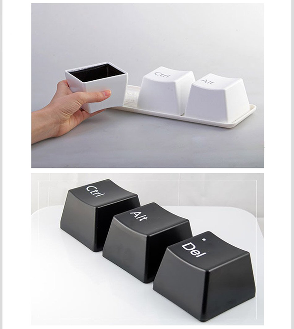 Ctrl-Alt-Del Keyboard Keys Cup Set-Tableware-Wantalo