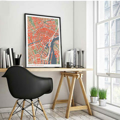 Famous City Maps Paintings