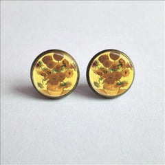 Sunflowers, Earrings