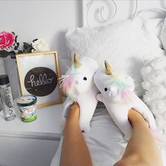 Unicorn Slippers with Lights
