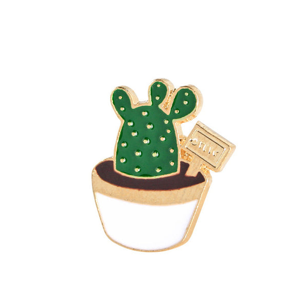 Green Plants Enamel Pins Set-Pins & Patches-Wantalo