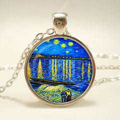Starry Night Over the Rhône Pendant Necklace