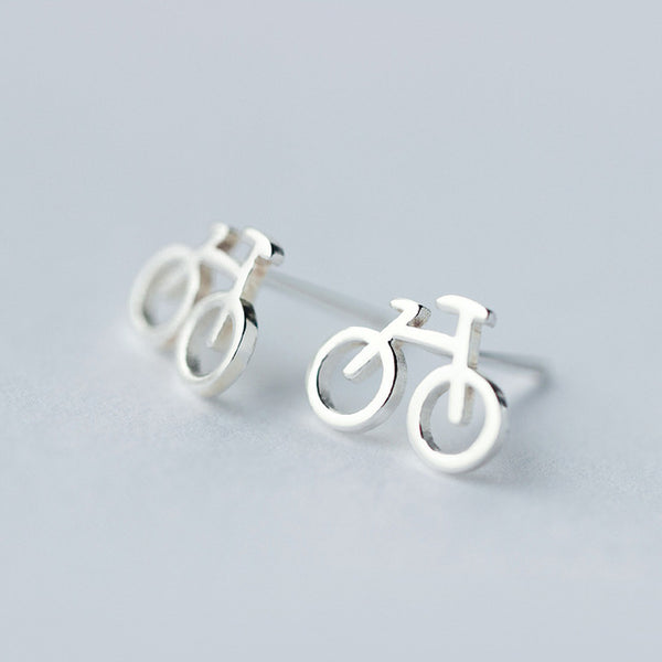 Bicycle Stud Earrings-Earrings-Wantalo