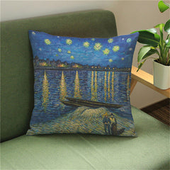 Starry Night Over the Rhône, Decorative Pillowcase