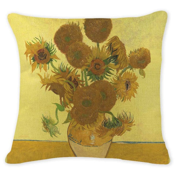 Sunflowers, Decorative Pillowcase-Pillows-Wantalo