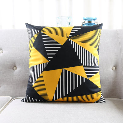 Yellow Geometrical Patterns Pillowcases-Pillows-Wantalo