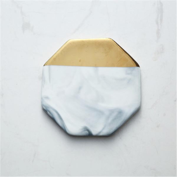 Marble & Gold Coasters - Tea & Coffee - wantalo.com