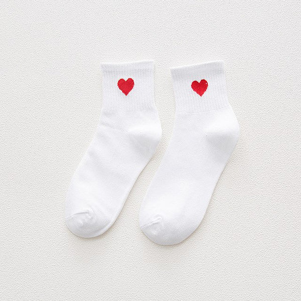 Heart Embroidered Socks-Socks-Wantalo