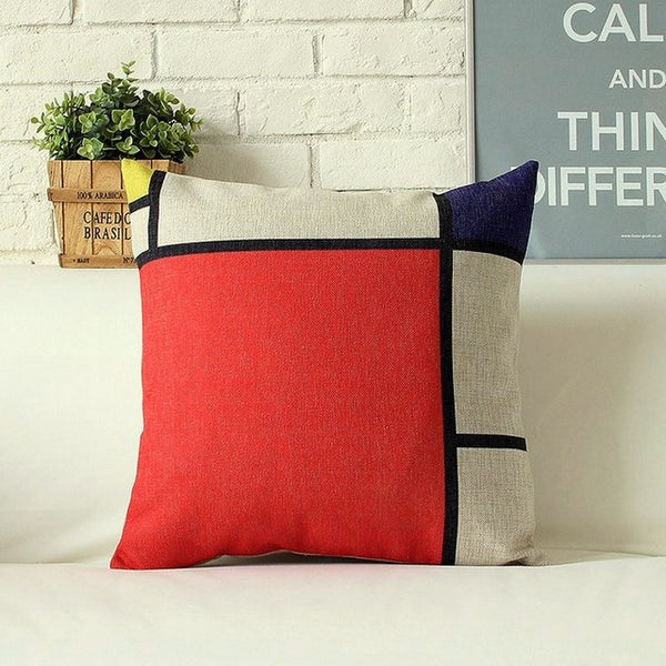 Mondrian Design Pillowcases-Pillows-Wantalo