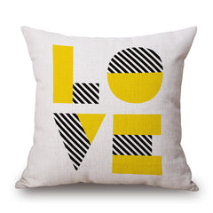 Yellow Pop Love Pillowcase