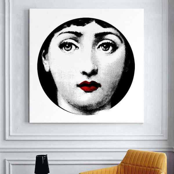 Fornasetti's Design Wall Art Canvas-Paintings-Wantalo
