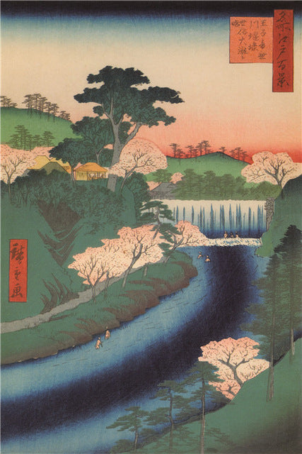 Ukiyo-e Paintings: The Great Waterfall-Paintings-Wantalo
