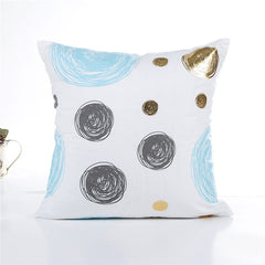 Geometrical Dots Decorative Pillowcase
