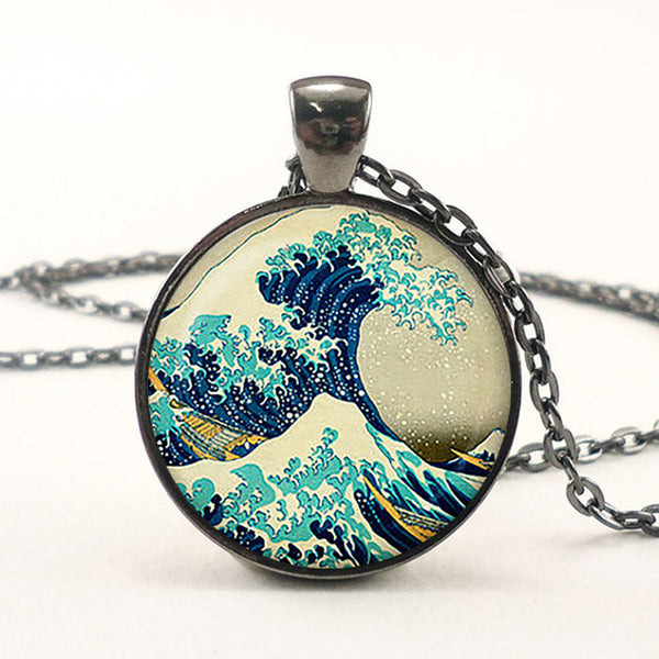 The Great Wave Pendant Necklace-Necklaces-Wantalo