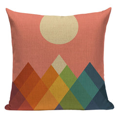 Colored Mountains Pillowcase