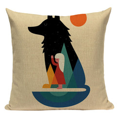 Wolf and Kid Pillowcase