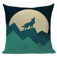 Wolf and Moon Pillowcase