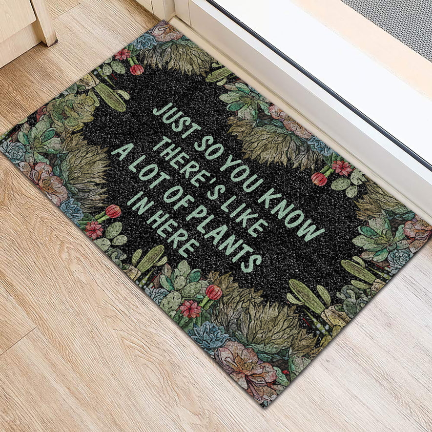 A Lot Of Plants In Here Succulent Doormat