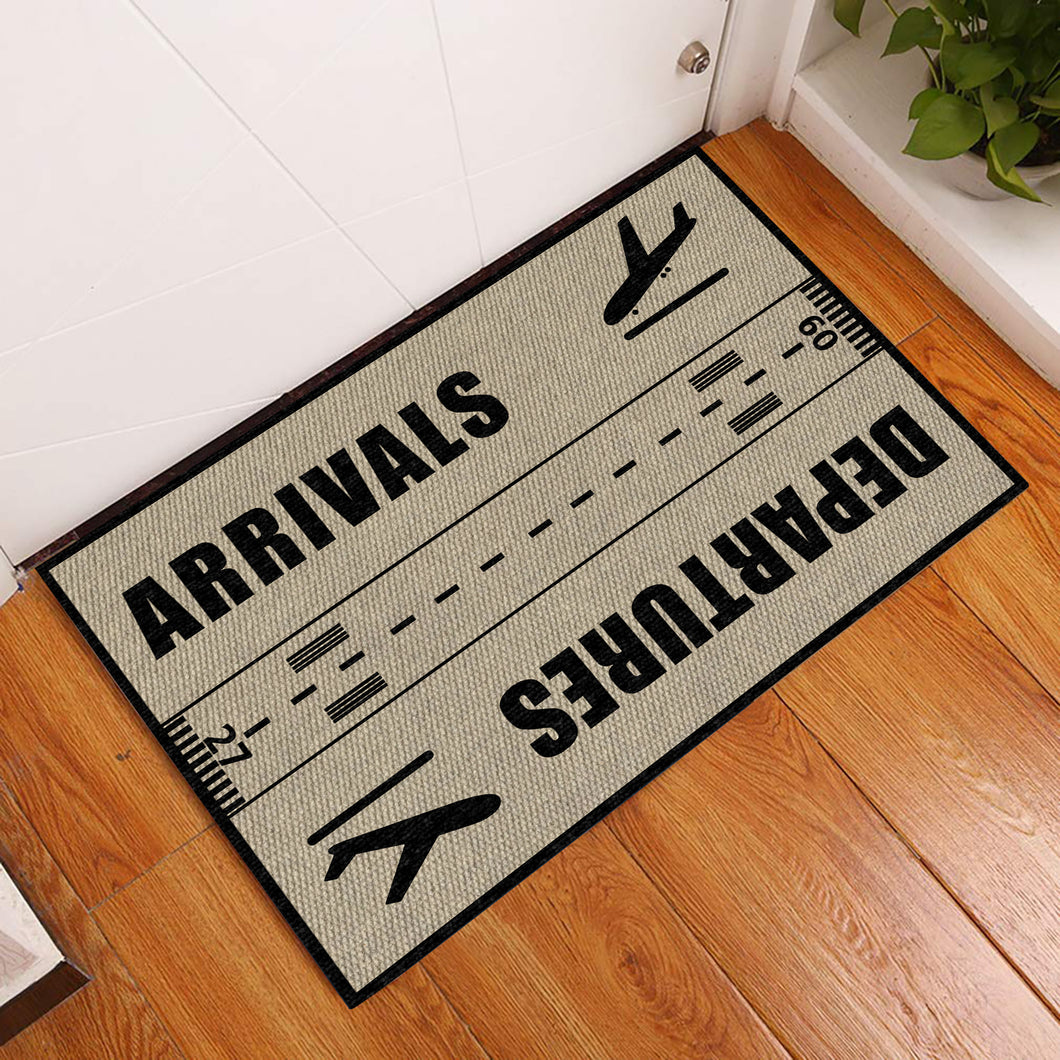 Arrivals And Departures Pilot Doormat