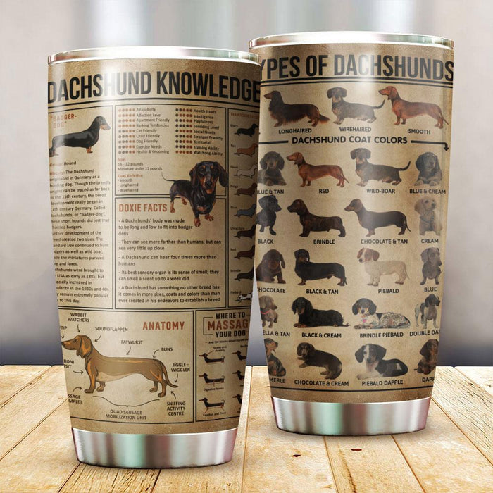 Dachshund Wiener Dog Knowledge Tumbler