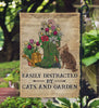 Dictionary Easily Distracted By Cats And Garden Flag