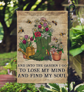 Dictionary Garden Find My Soul Garden Bee Garden Flag