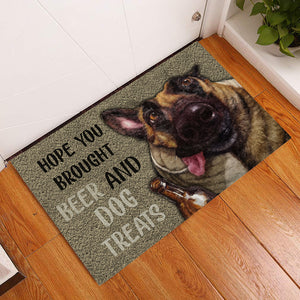 Drunk Dog Hope You Brought Beer Doormat