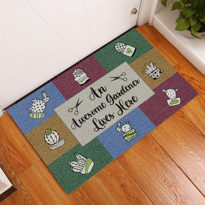 An Awesome Gardener Lives Here Doormat
