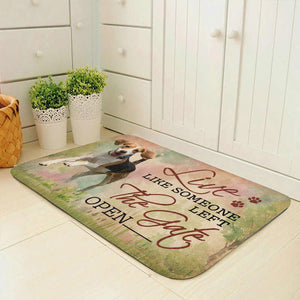 Live Like Someone Left The Gate Open Beagle Doormat