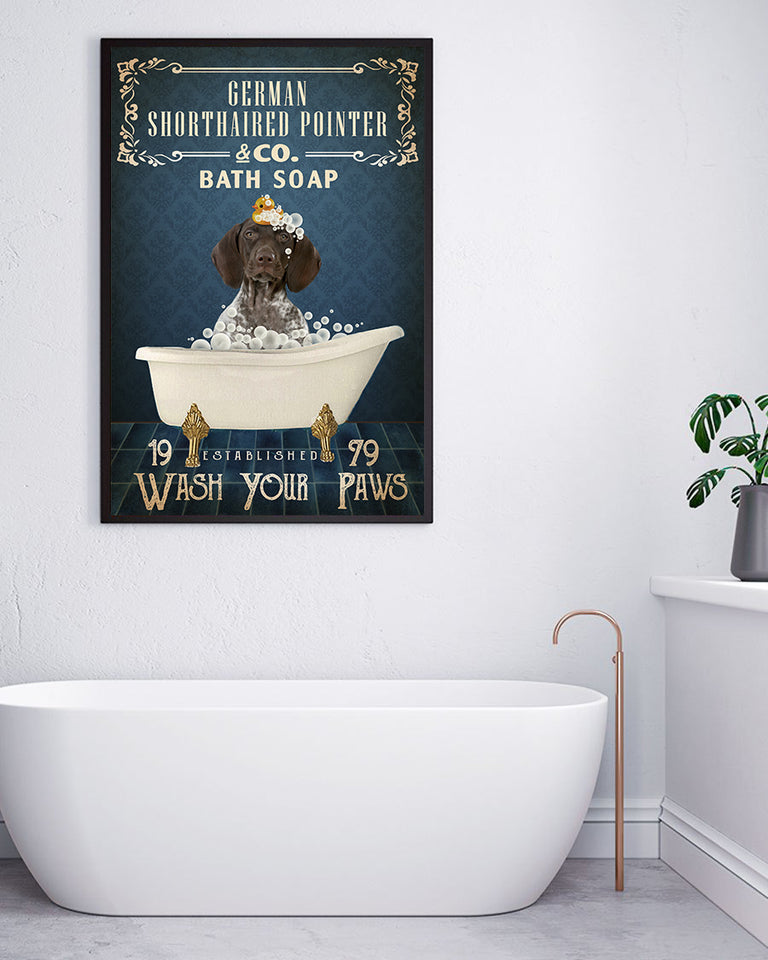 Navy Bath Soap Company German Shorthaired Pointer Poster