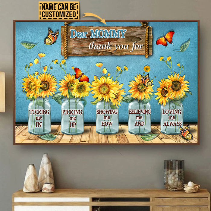Personalized Mother's Day To Mother And Grandma Thank You Customized Poster & Canvas