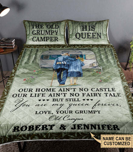 Personalized Camping Our Home Ain't No Castle Customized Quilt Bedding