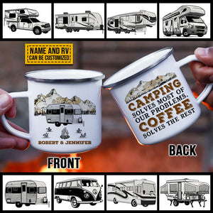 Personalized Camping Solves Problems Customized Campfire Mug