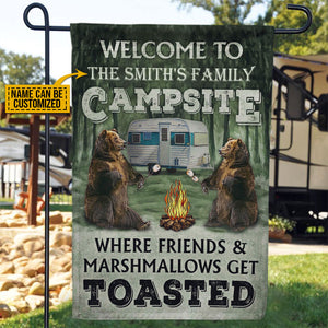 Personalized Camping Welcome To Campfire Customized Flag