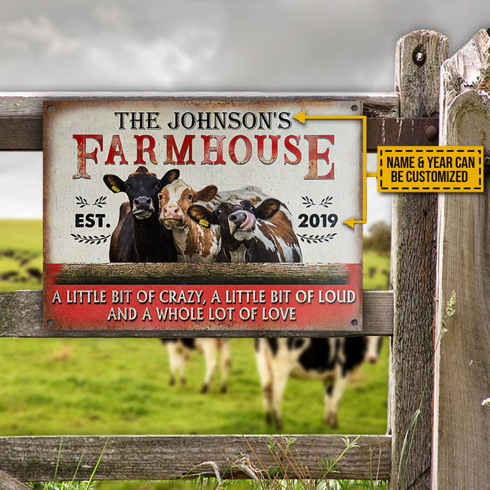 Personalized Cattle Farmhouse A Little Bit Of Customized Classic Metal Signs