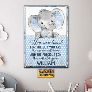 Personalized Elephant You Are Loved Customized Classic Metal Signs