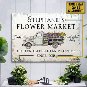 Personalized Floristry Fresh Cut Customized Classic Metal Signs