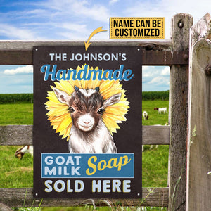Personalized Goat Milk Sunflower Soap Customized Classic Metal Signs