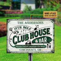 Personalized Golf Club House And Bar Customized Classic Metal Signs