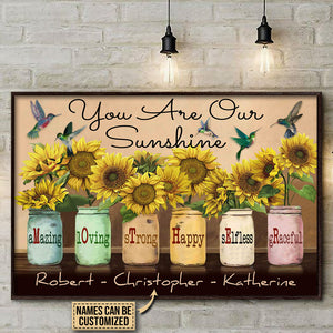 Personalized Hummingbird Sunflower Mother Customized Poster