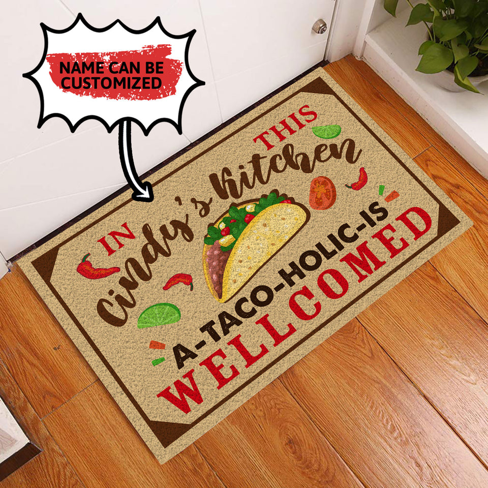 Personalized Doormat In This Kitchen