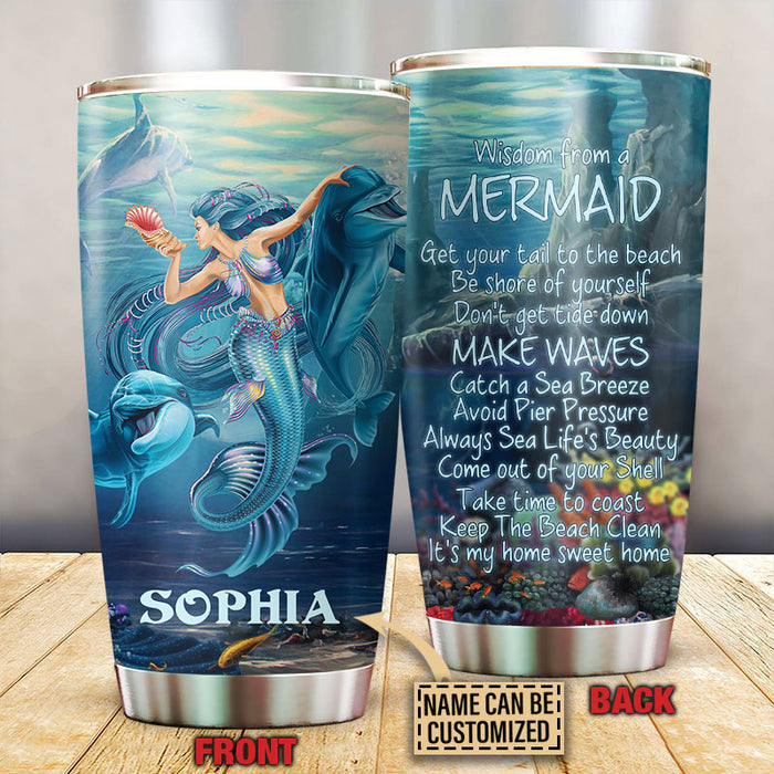 Personalized Mermaid Advice From Customized Tumbler