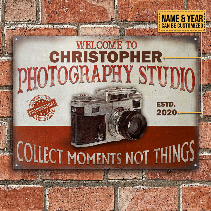 Personalized Photography Studio Best Quality Best Service Customized Classic Metal Signs