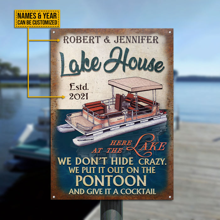 Personalized Pontoon Lake House Crazy Customized Classic Metal Signs