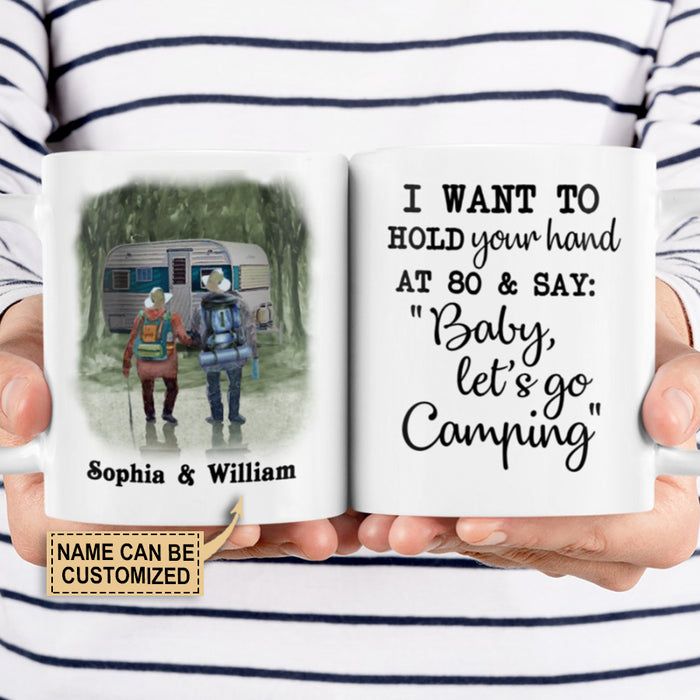 Personalized Camping Hold Your Hand Customized Mug