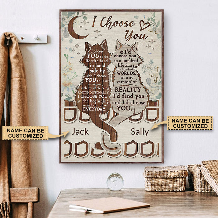Personalized Cat I Choose You Poster