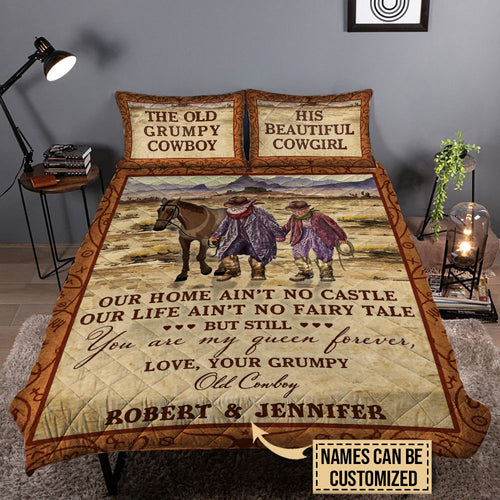 Personalized Cowboy Our Home Ain't No Castle Customized Quilt Bedding