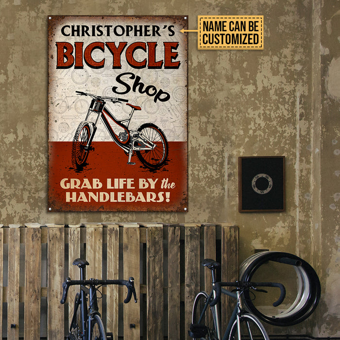 Personalized Cycling Bicycle Shop Customized Classic Metal Signs